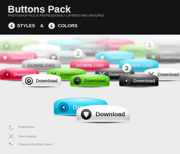 Template Image for Dome Web Buttons - 30021