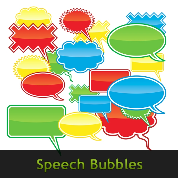 Template Image for Speech Bubbles - 30032