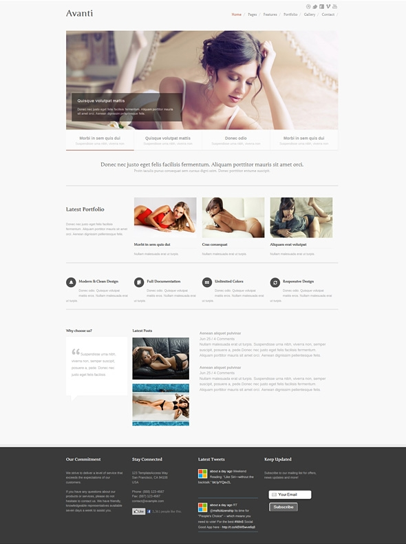Template Image for Avanti - Responsive Web Template