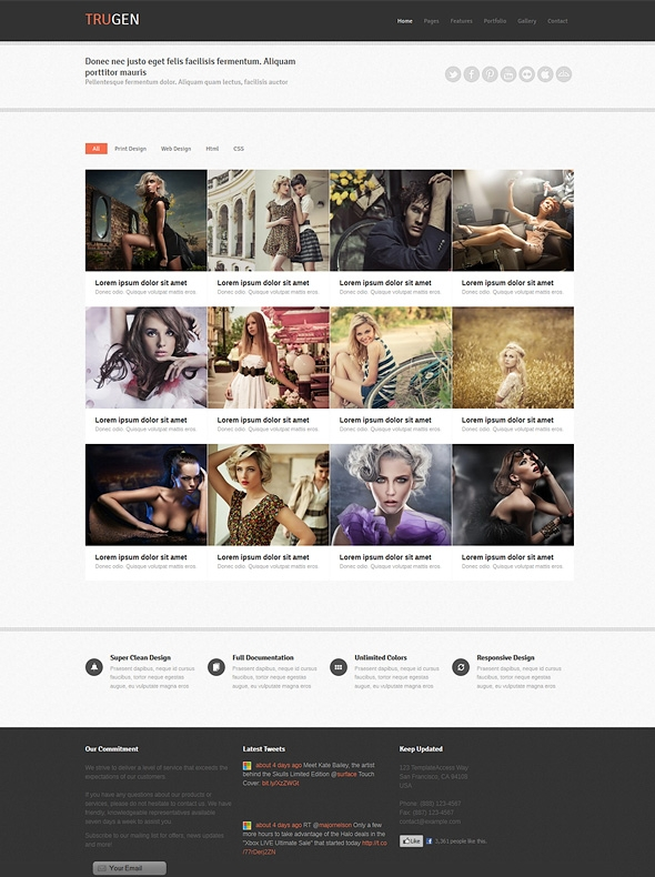 Template Image for Trugen - Responsive Website Template