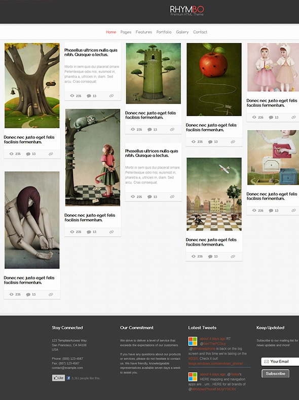 Template Image for Mbo - Responsive HTML Template