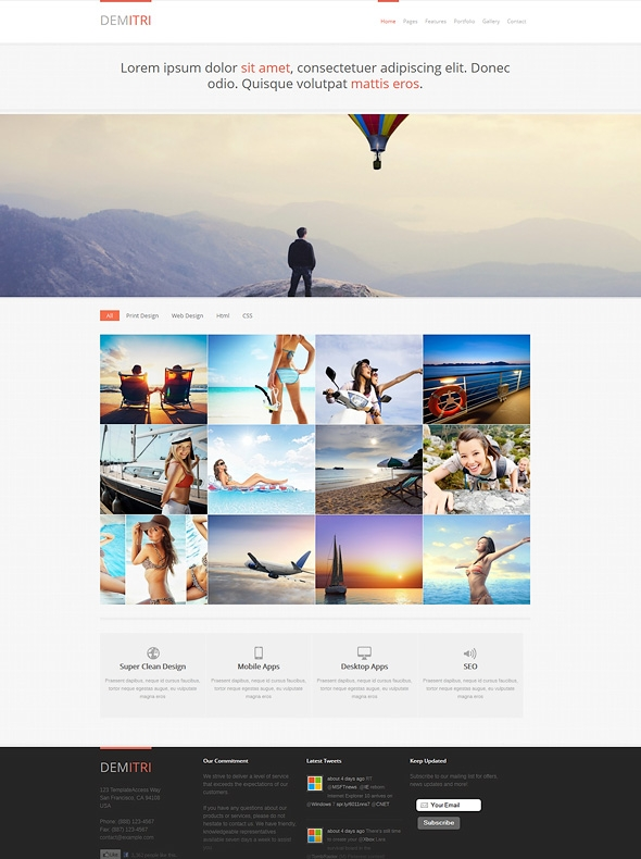 Template Image for Demitri - Responsive Web Template