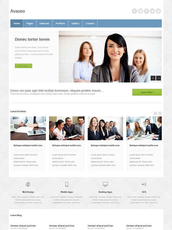 Template Image for Avaveo - Responsive HTML Template