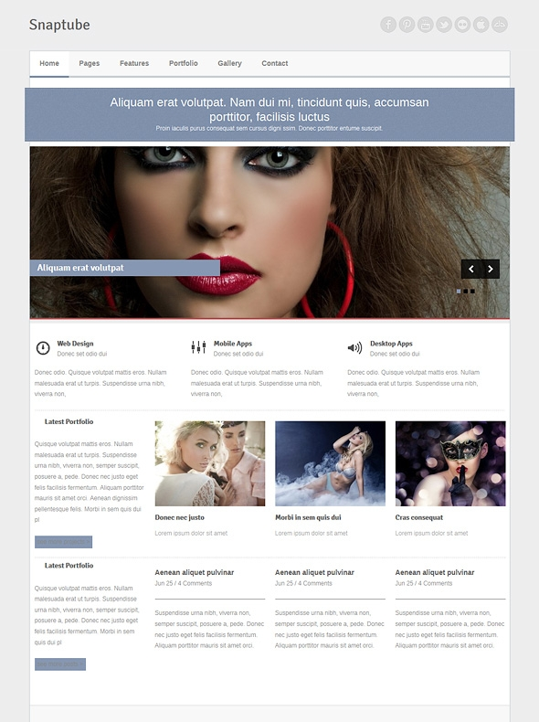 Template Image for Snaptube - Responsive Website Template