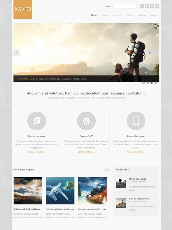 Template Image for Kaveo - Responsive HTML Template
