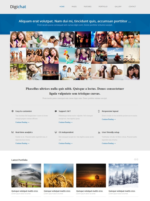 Template Image for Digichat - Responsive Website Template