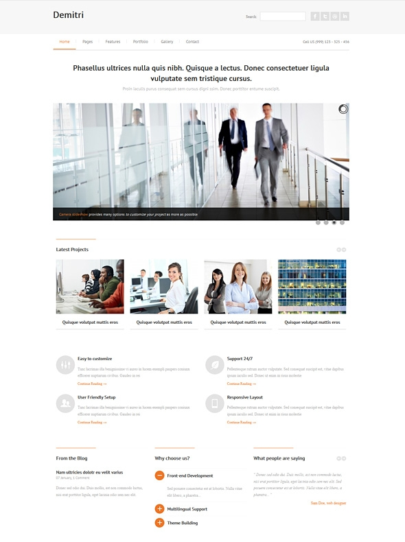 Template Image for Whitegraph - Responsive Web Template