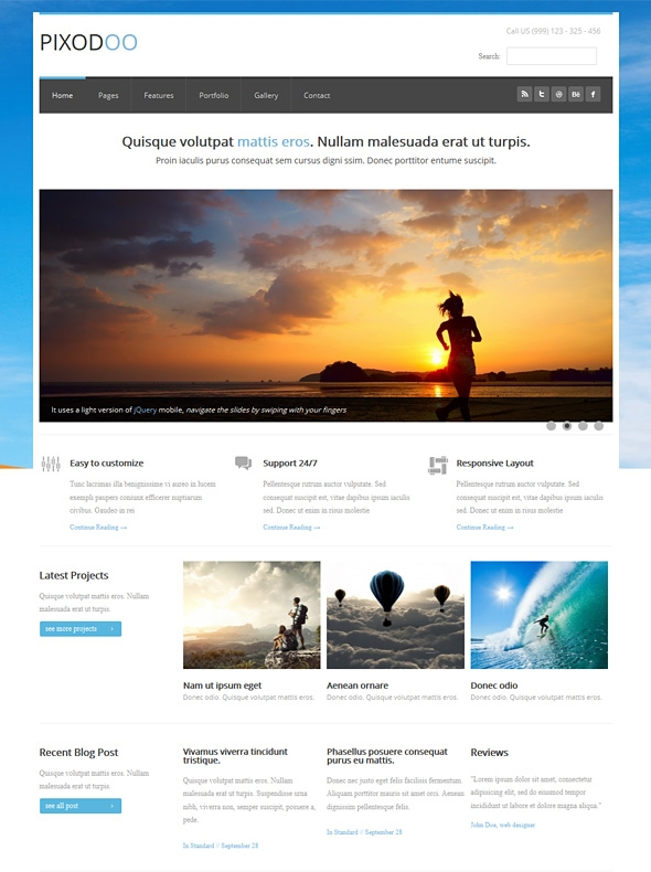 Template Image for Pixodoo - Responsive HTML Template