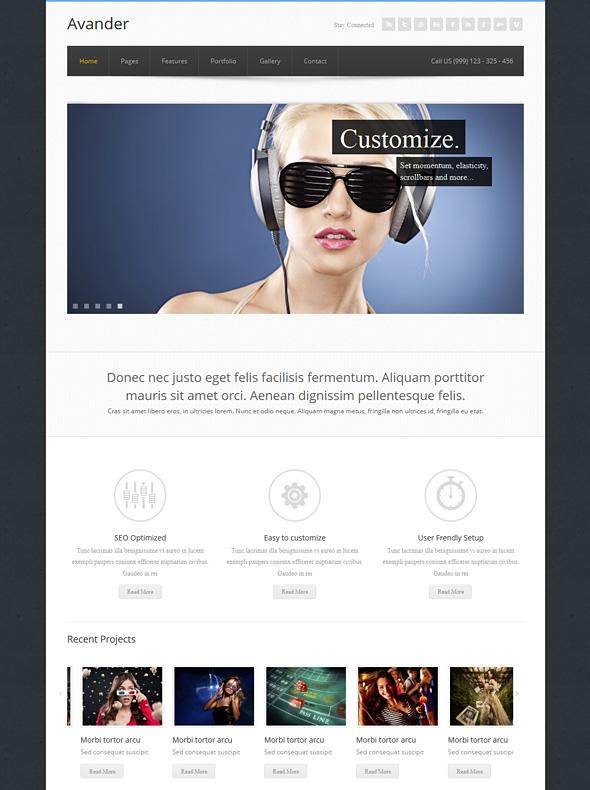 Template Image for Avander - Responsive Website Template