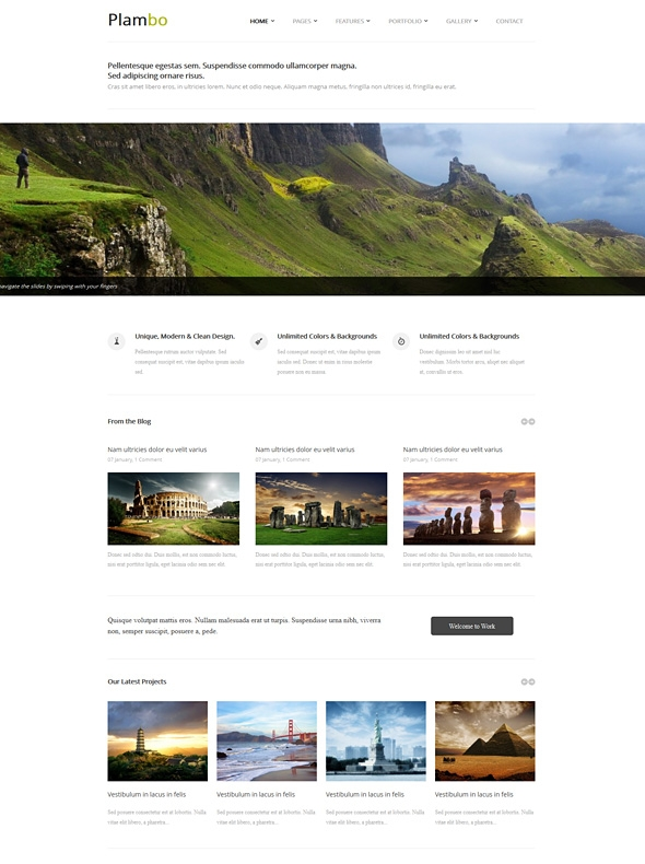 Template Image for Plambo - Responsive Web Template
