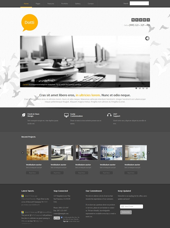 Template Image for Dotti - Responsive HTML Template