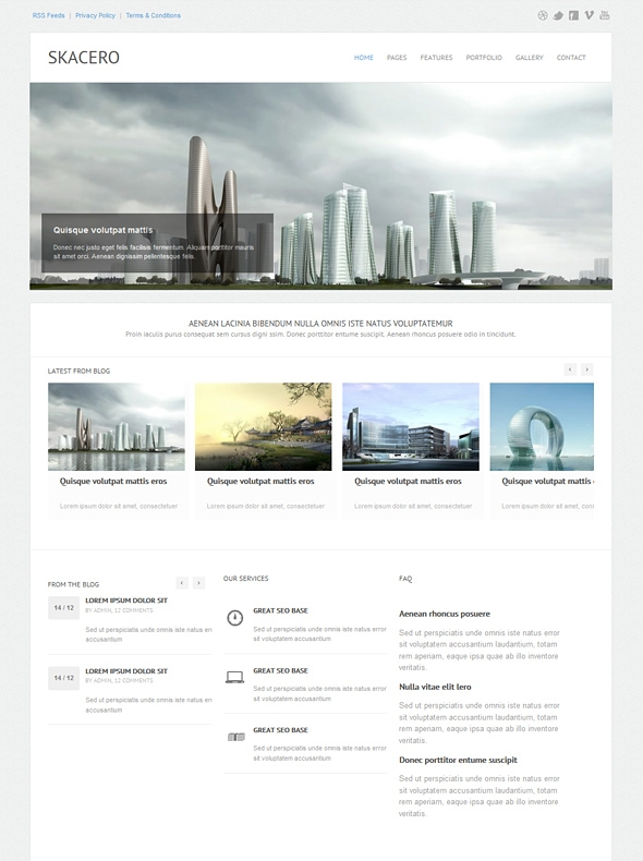 Template Image for Skacero - Responsive HTML Template