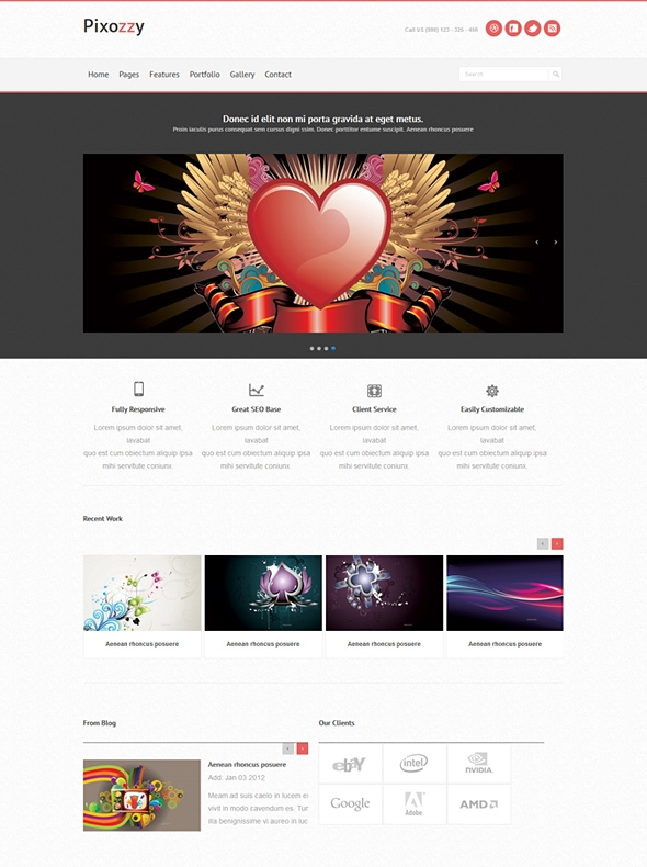 Template Image for Pixozzy - Responsive Website Template