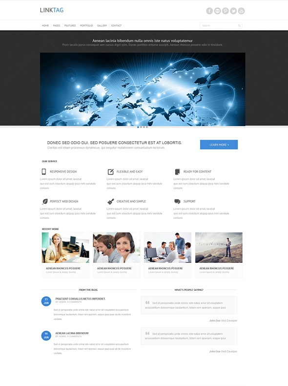 Template Image for Linktag - Responsive Website Template