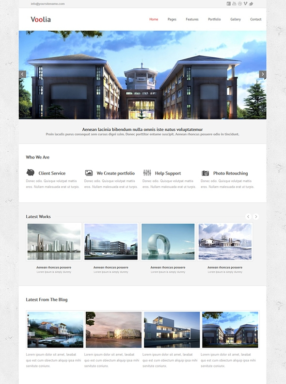 Template Image for Voolia - Responsive Website Template