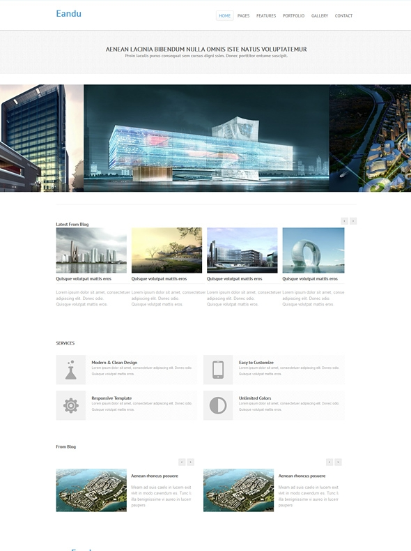 Template Image for Eandu - Responsive HTML Template