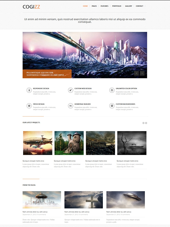 Template Image for Cogizz - Responsive HTML Template