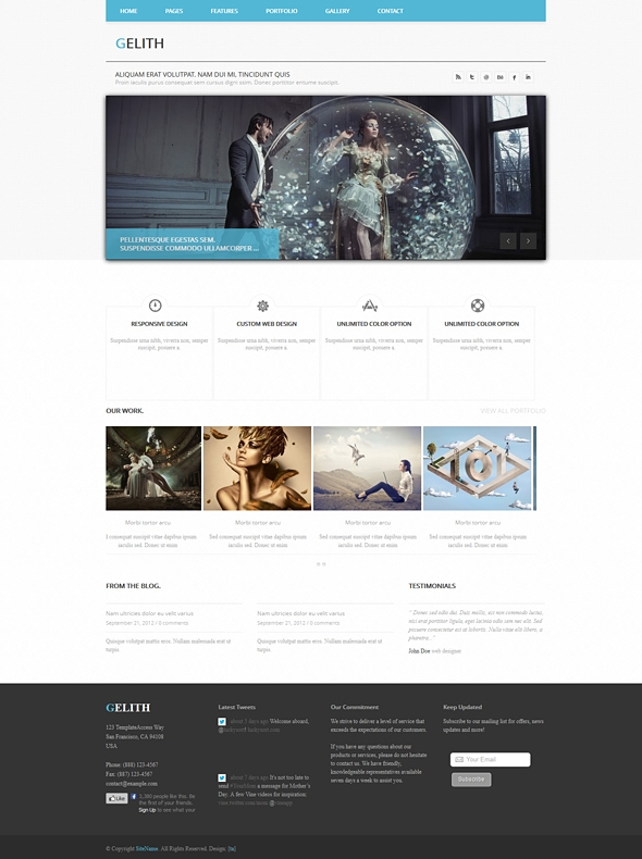 Template Image for Gelith - Responsive Website Template