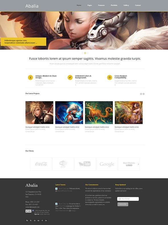 Template Image for Abalia - Responsive Web Template