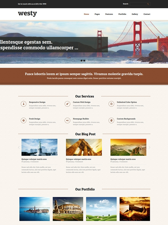 Template Image for Westy - Responsive HTML Template