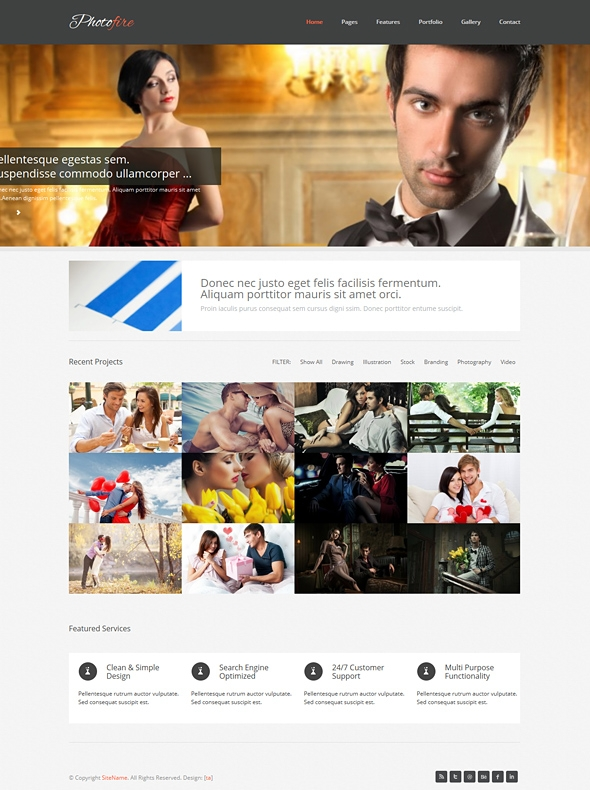 Template Image for Photofire - Responsive Website Template