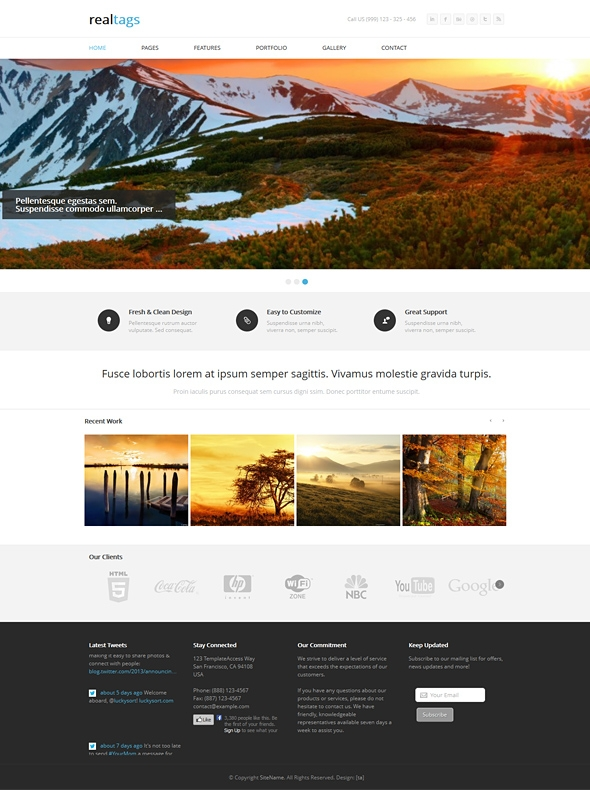 Template Image for Realtags - Responsive Web Template