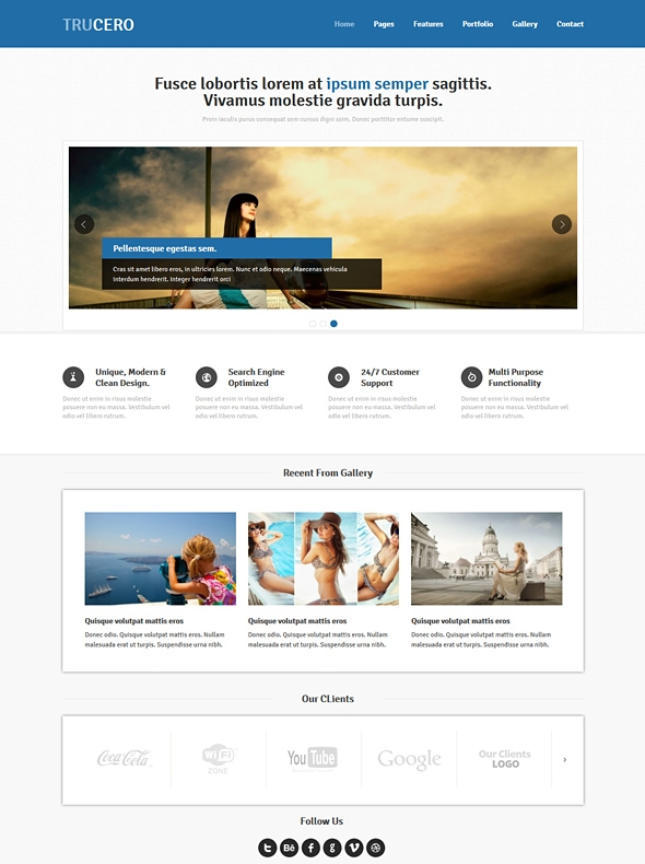 Template Image for Trucero - Responsive Website Template