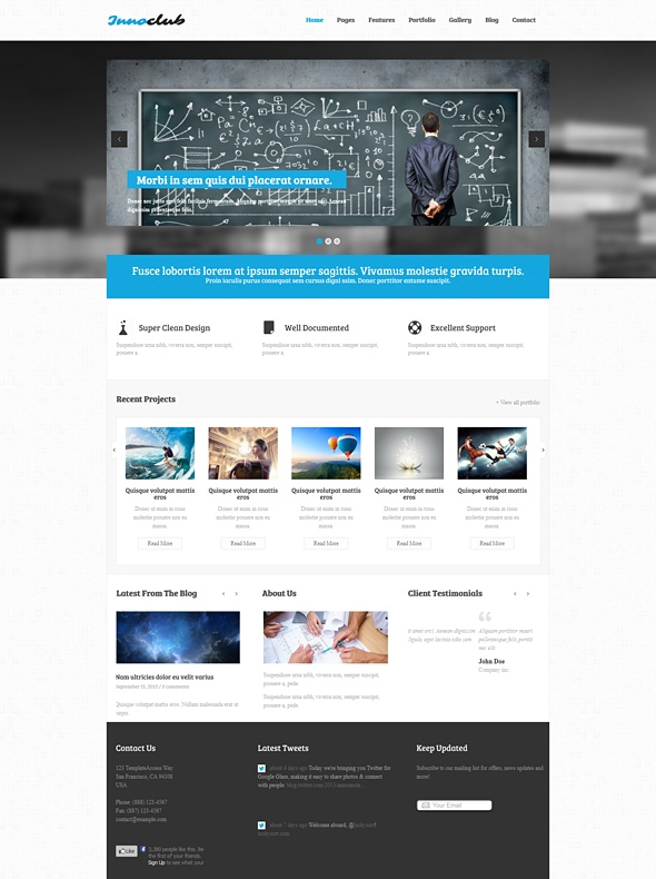 Template Image for Innoclub - Responsive HTML Template