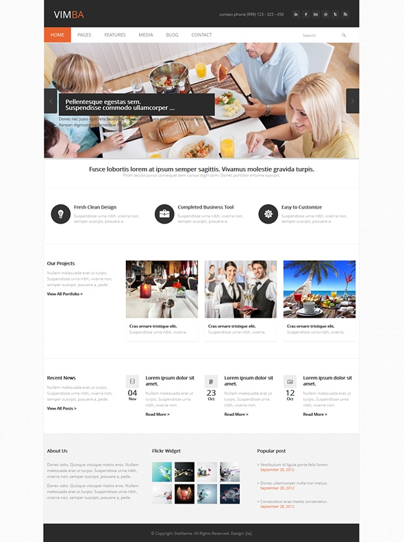Template Image for Vimba - Responsive HTML Template