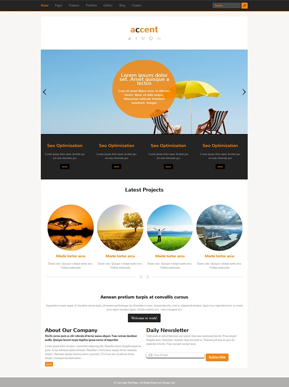 Template Image for Accent - Responsive HTML Template