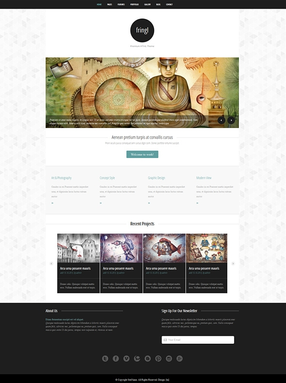 Template Image for Fringl - Responsive Website Template