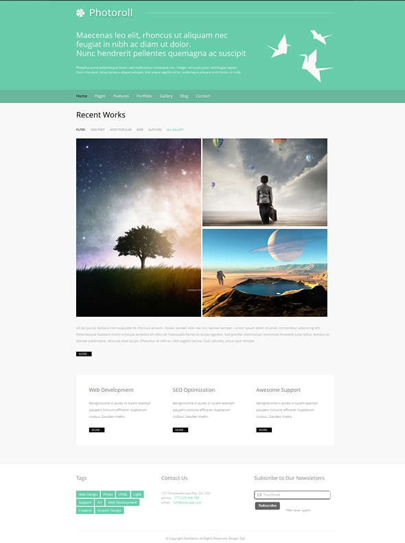 Template Image for Photoroll - Responsive Web Template