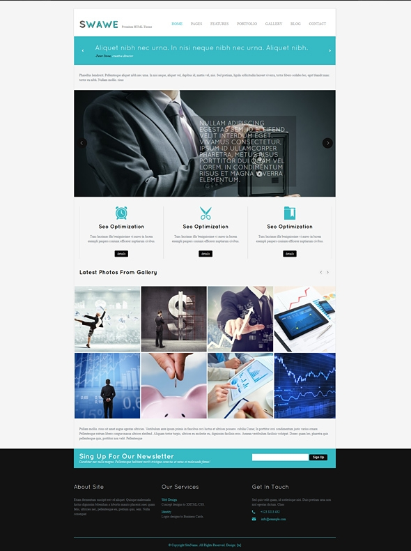 Template Image for Swawe - Responsive Web Template