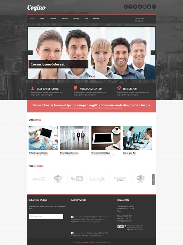 Template Image for Cogino - Responsive Website Template