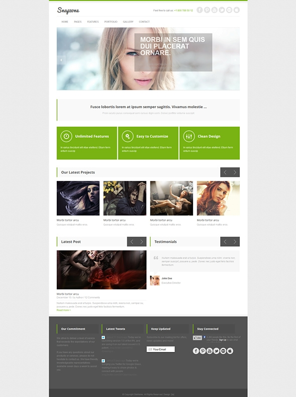 Template Image for Snapzone - Responsive HTML Template