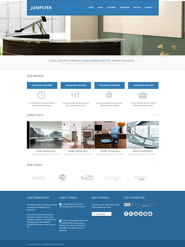 Jumpster - Responsive HTML Template - Corporate/Business - Website ...