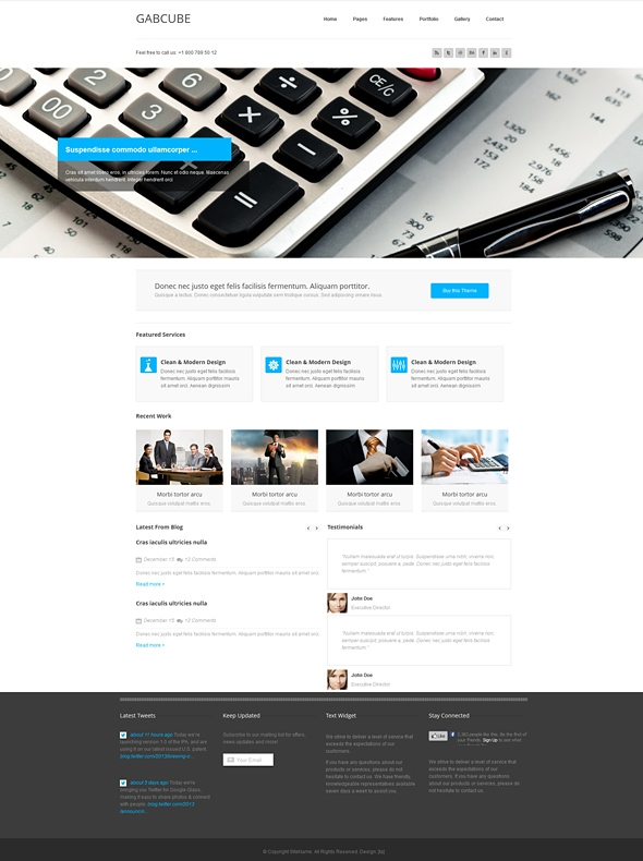 Template Image for Gabcube - Responsive Website Template