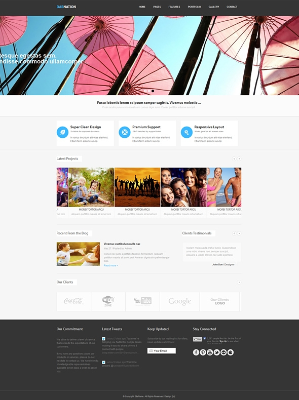 Template Image for Dabnation - Responsive Web Template