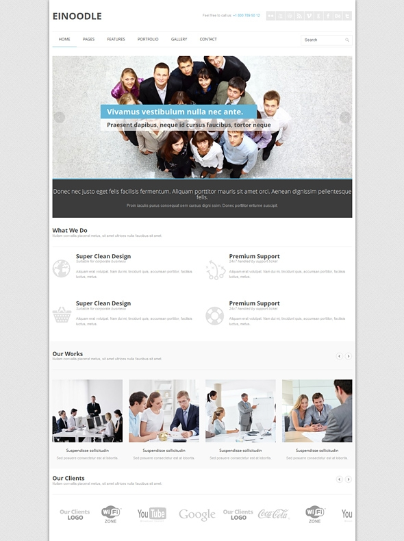 Template Image for Einoo - Responsive Website Template
