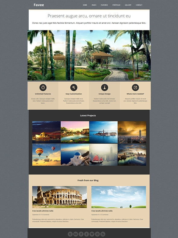 Template Image for Favee - Responsive HTML Template