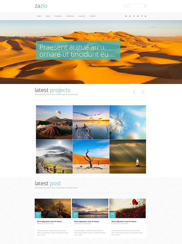 Template Image for Zazio - Responsive Website Template