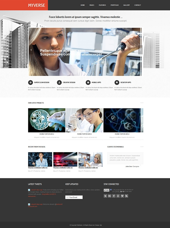 Myverse - Responsive Website Template - Corporate/Business - Website ...