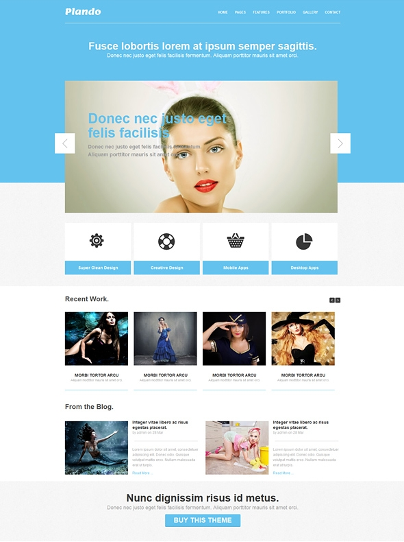 Template Image for Plando - Responsive Website Template