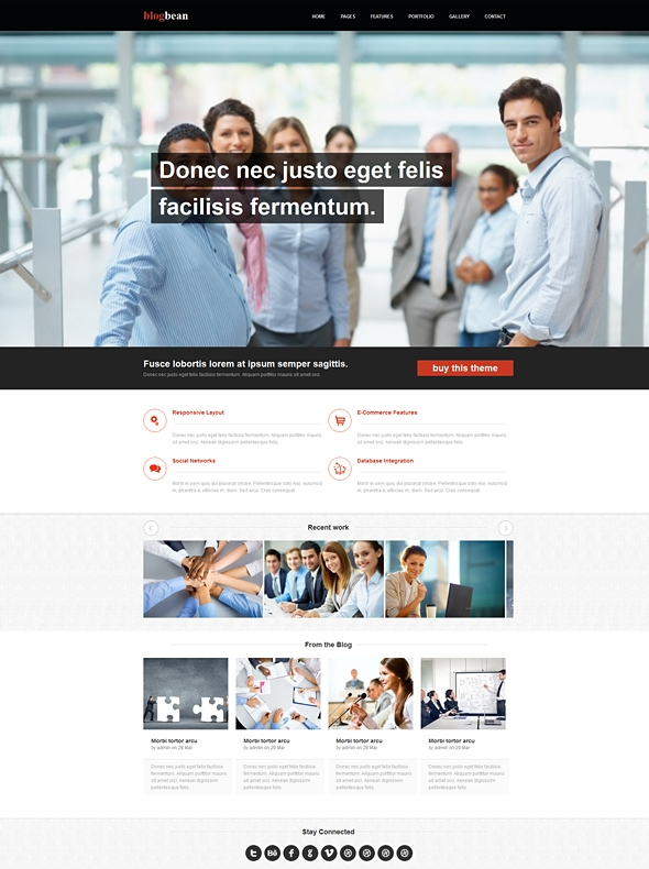 Blogbean responsive web template corporatebusiness website template image for blogbean responsive web template cheaphphosting Choice Image