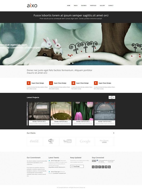 Template Image for Aixo - Responsive HTML Template