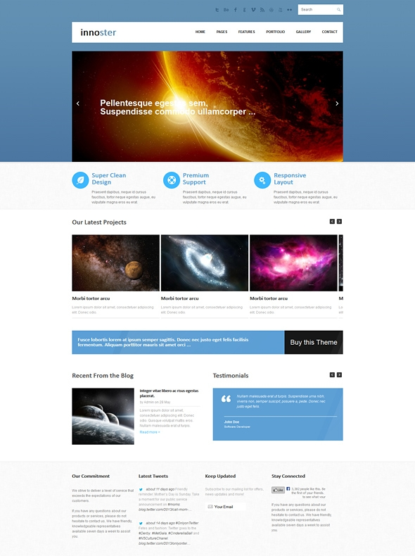 Template Image for Innoster - Responsive Website Template