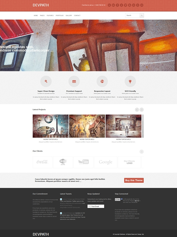 Template Image for Quantem - Responsive Website Template