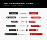 Image for Image for Clean, Slim Web Buttons - 30024