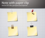 Image for Image for Paper Clip & Notepad Vector - 30169