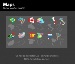 Image for Image for World Map Vector - 30250